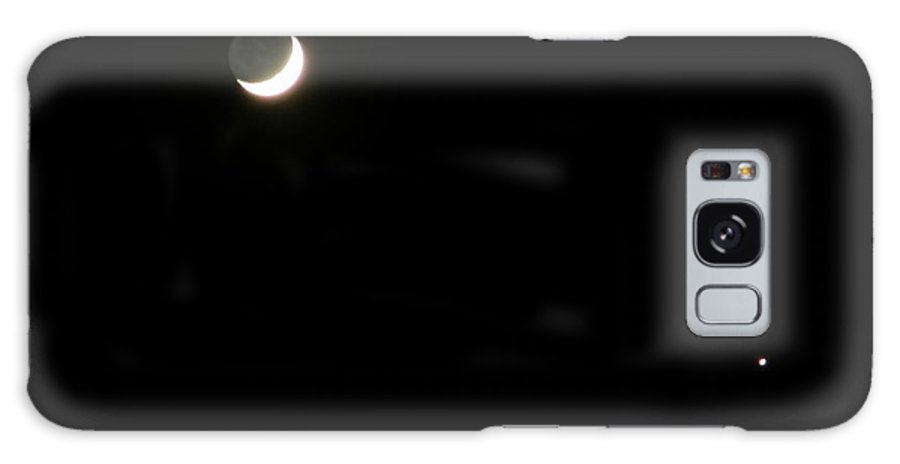 Moon Galaxy S8 Case featuring the photograph The Moon And Stars by Gale Cochran-Smith