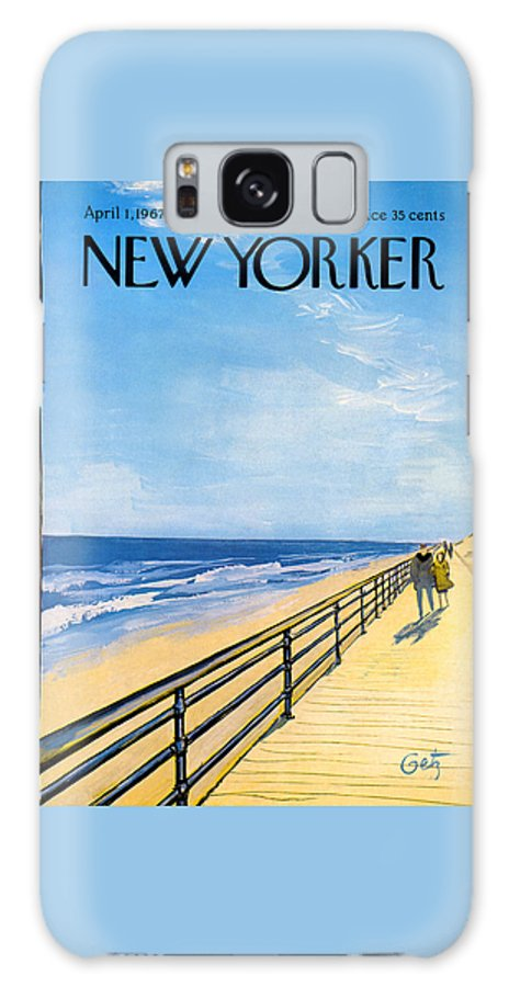 Arthur Galaxy S8 Case featuring the painting The New Yorker Cover - April 1st, 1967 by Arthur Getz