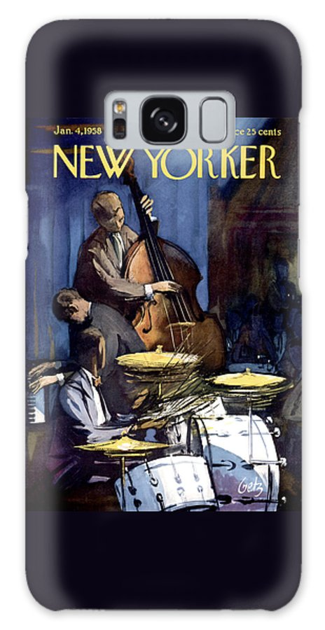 Concert Galaxy S8 Case featuring the photograph The New Yorker Cover - January 4th, 1958 by Arthur Getz