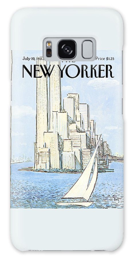 Regional Galaxy S8 Case featuring the painting The New Yorker Cover - July 19th, 1982 by Arthur Getz