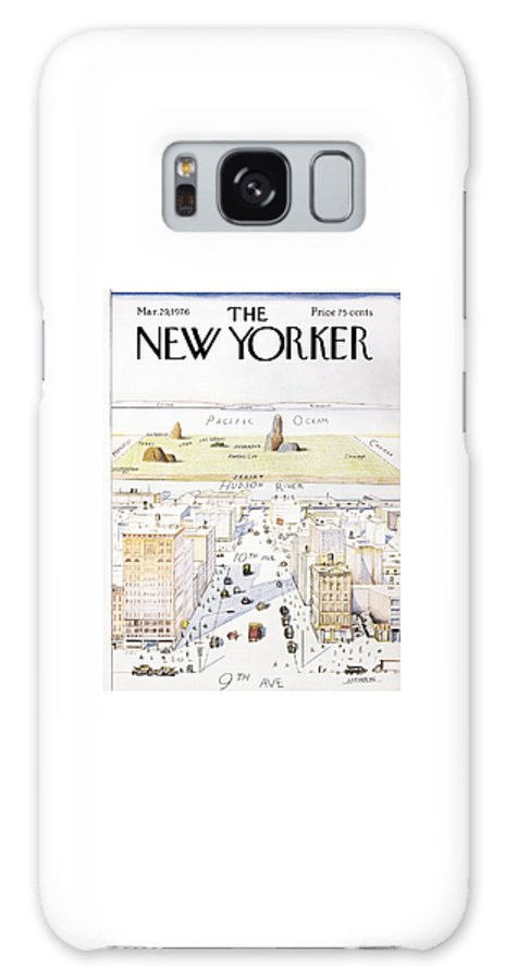 Saul Galaxy S8 Case featuring the photograph View From 9th Avenue by Saul Steinberg