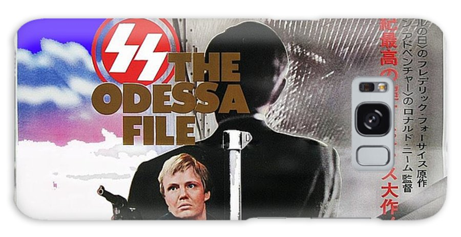 The Odessa File Jon Voight Foreign Theatrical Poster 1974 Color Added 2016 Galaxy S8 Case featuring the photograph The Odessa File Jon Voight Foreign Theatrical Poster 1974 Color Added 2016 by David Lee Guss