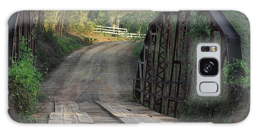 Bridge Galaxy S8 Case featuring the photograph The Old Country Bridge by Kim Henderson