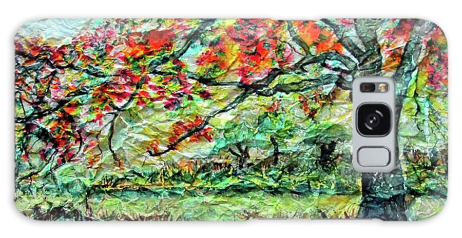 Landscape Galaxy S8 Case featuring the mixed media The Old Maple Tree by Norma Boeckler