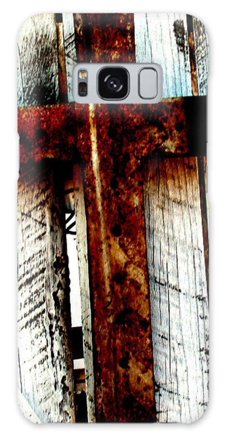 Cross Galaxy S8 Case featuring the photograph The Old Rusted Cross by Wayne Potrafka