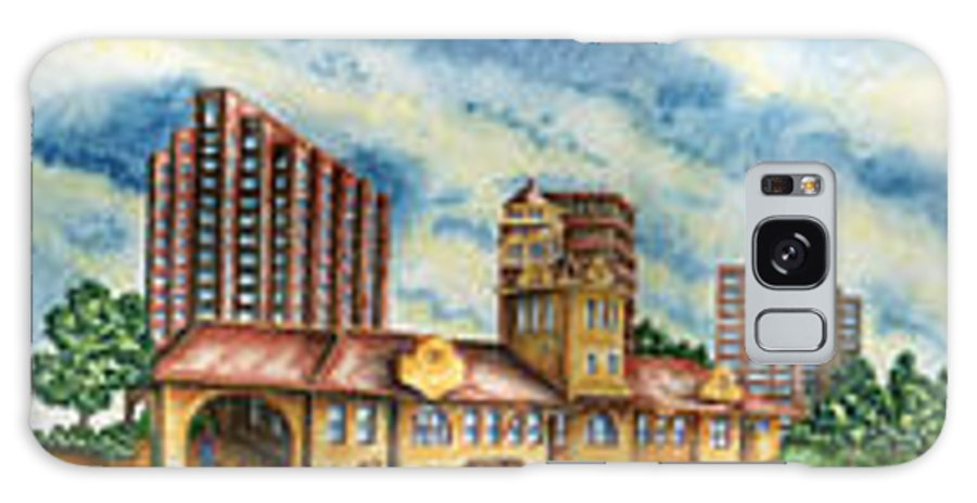 Cityscape Galaxy S8 Case featuring the painting The Old Train Station  by Ragon Steele
