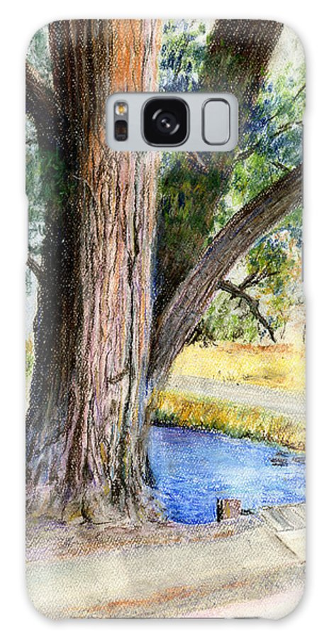 Tree Galaxy S8 Case featuring the pastel The Old Tree by Arline Wagner