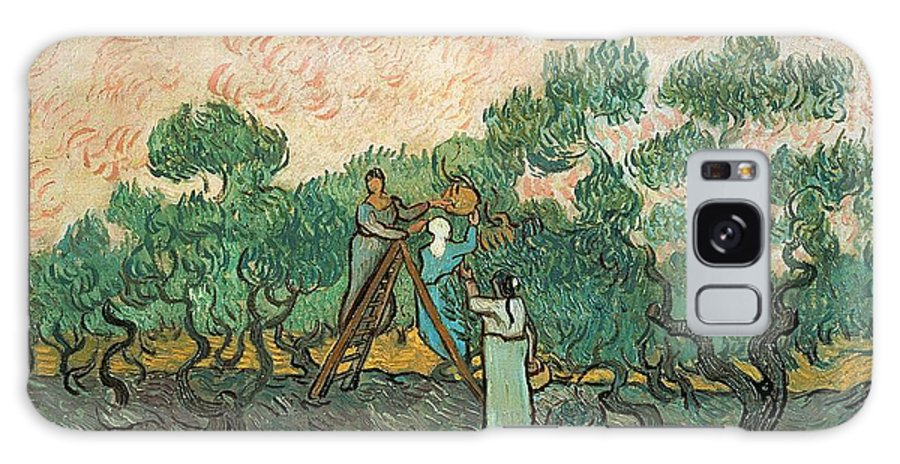 The Galaxy Case featuring the painting The Olive Pickers by Vincent van Gogh