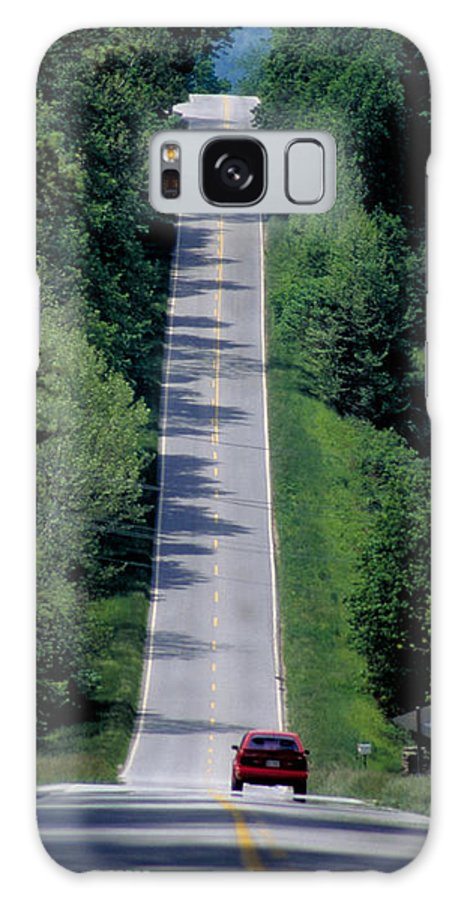 Road Galaxy S8 Case featuring the photograph The Open Road by Carl Purcell