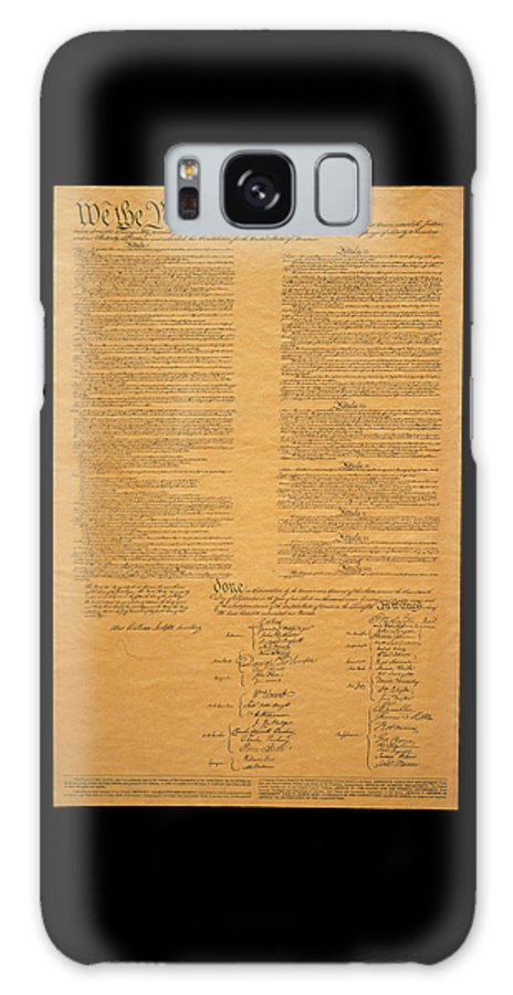 Photography Galaxy Case featuring the photograph The Original United States Constitution by Panoramic Images
