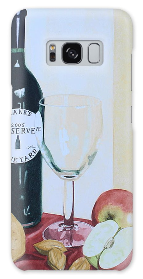 Still Life Galaxy S8 Case featuring the painting The Other Empty Glass. by Frank Hamilton