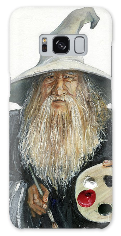 Wizard Galaxy S8 Case featuring the painting The Painting Wizard by J W Baker