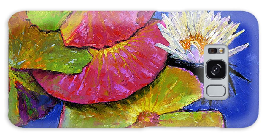 Water Lily Galaxy Case featuring the painting The Palletes of Fall by John Lautermilch
