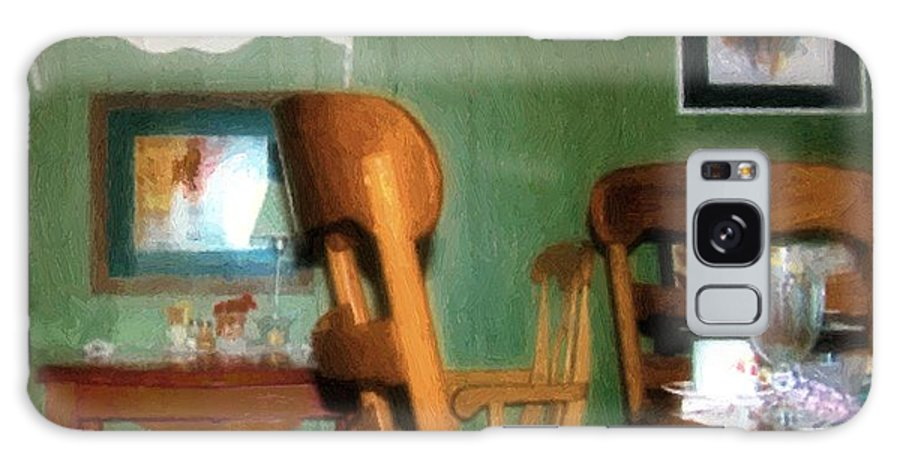 Chairs Galaxy S8 Case featuring the painting The Party's Over by RC DeWinter