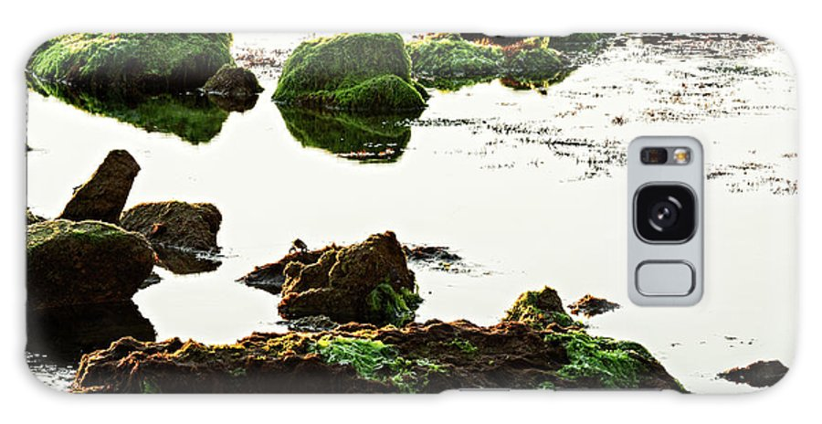 Passetto Galaxy S8 Case featuring the photograph The Passetto Rocks And Water, Ancona, Italy by Luigi Morbidelli