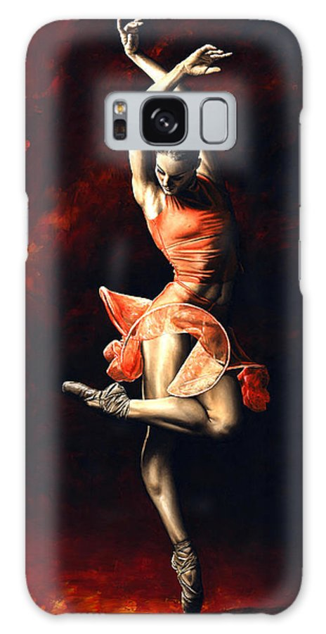 Dancer Galaxy S8 Case featuring the painting The Passion of Dance by Richard Young