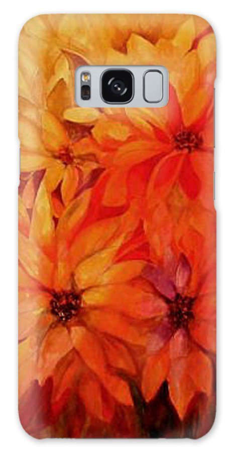 Flowers Galaxy Case featuring the painting The Passion Of Flowers by Carolyn LeGrand