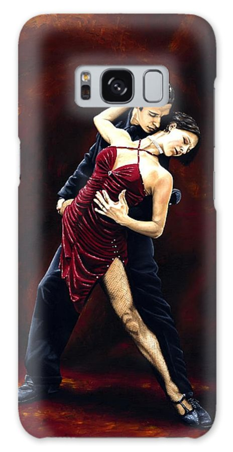 Tango Galaxy S8 Case featuring the painting The Passion Of Tango by Richard Young