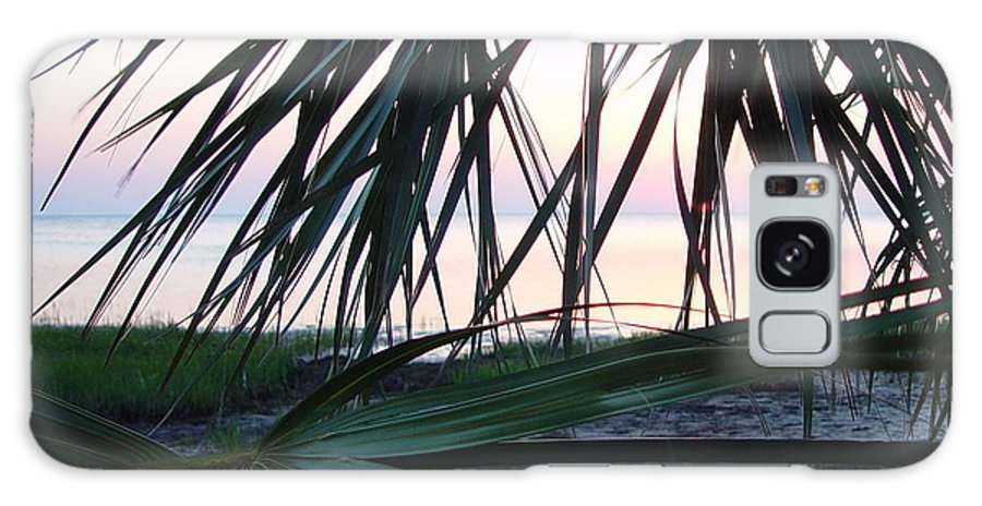 Palms Galaxy S8 Case featuring the painting The Peeking Palms by Debbie May