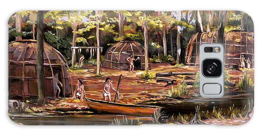 Institute Of American Indian Galaxy S8 Case featuring the painting The Pequots by Nancy Griswold
