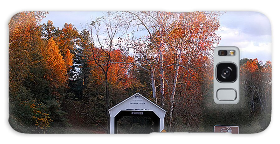 Landscape Galaxy Case featuring the photograph The Phillips Covered Bridge by John McAllister