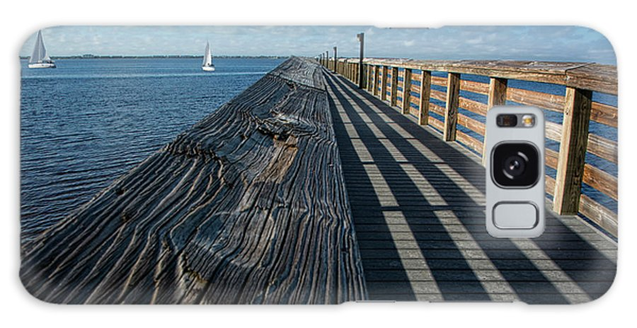 Pier Galaxy S8 Case featuring the photograph The Pier At Bayshore Live Oak Park - Port Charlotte, Florida by Mitch Spence