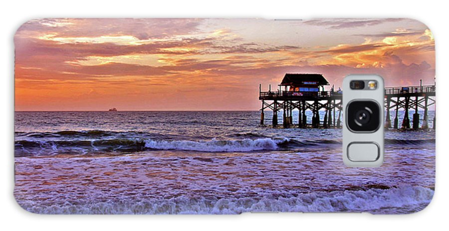 Sunset Galaxy S8 Case featuring the photograph The Pier by Scott Mahon
