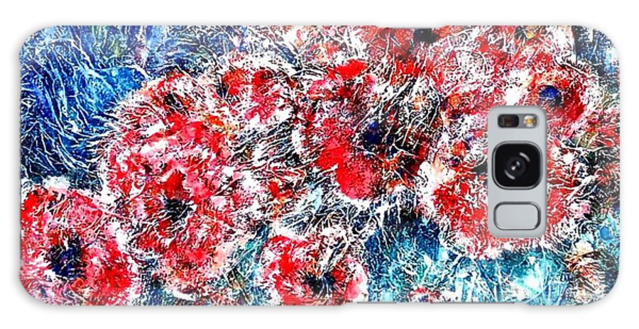 Poppies Galaxy S8 Case featuring the painting The Poppies by Norma Boeckler