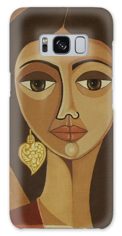 Portuguese Galaxy Case featuring the painting The Portuguese Earring by Madalena Lobao-Tello