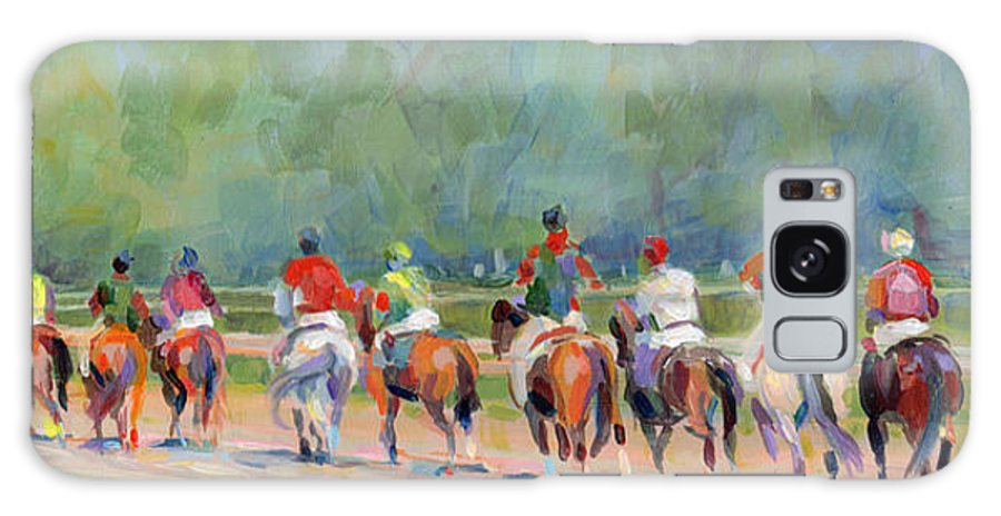 Saratoga Galaxy S8 Case featuring the painting The Post Parade by Kimberly Santini