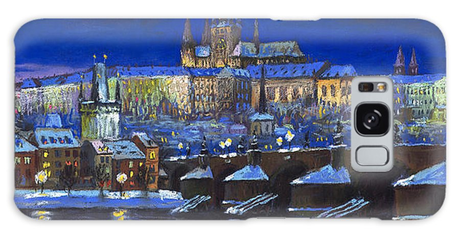 Prague Galaxy Case featuring the painting The Prague Panorama by Yuriy Shevchuk