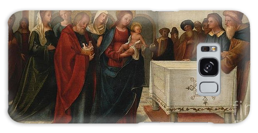 Attributed To Francesco Casella Galaxy S8 Case featuring the painting The Presentation At The Temple by Celestial Images