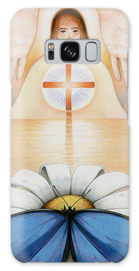 Jesus Galaxy S8 Case featuring the drawing The Price And The Promise by Amy S Turner