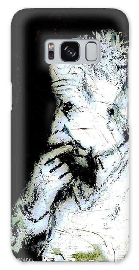 Einstein Galaxy S8 Case featuring the digital art The Professor by Arline Wagner