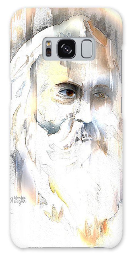 Old Man Galaxy S8 Case featuring the mixed media The Prophet by Arline Wagner