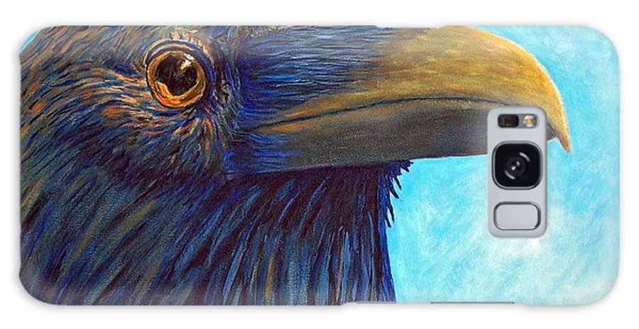 Raven Galaxy S8 Case featuring the painting The Prophet by Brian Commerford
