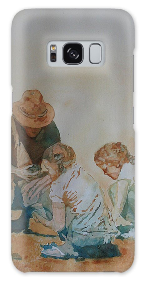 Fathers Galaxy Case featuring the painting The Pumice Seekers by Jenny Armitage