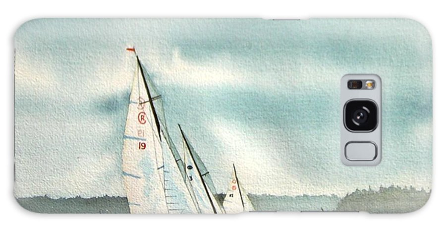 Sailing Galaxy S8 Case featuring the painting The Race by Gale Cochran-Smith