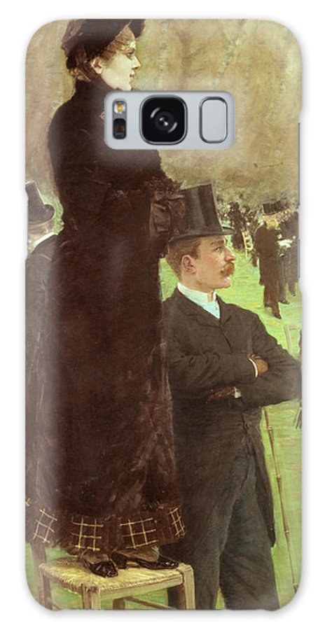 The Galaxy S8 Case featuring the painting The Races At Auteuil by Joseph de Nittis