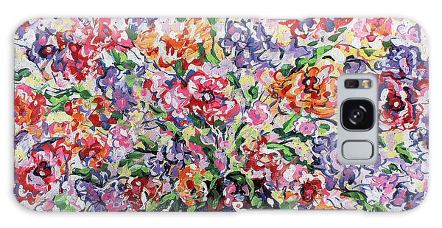 Flowers Galaxy S8 Case featuring the painting The Rainbow Flowers by Leonard Holland
