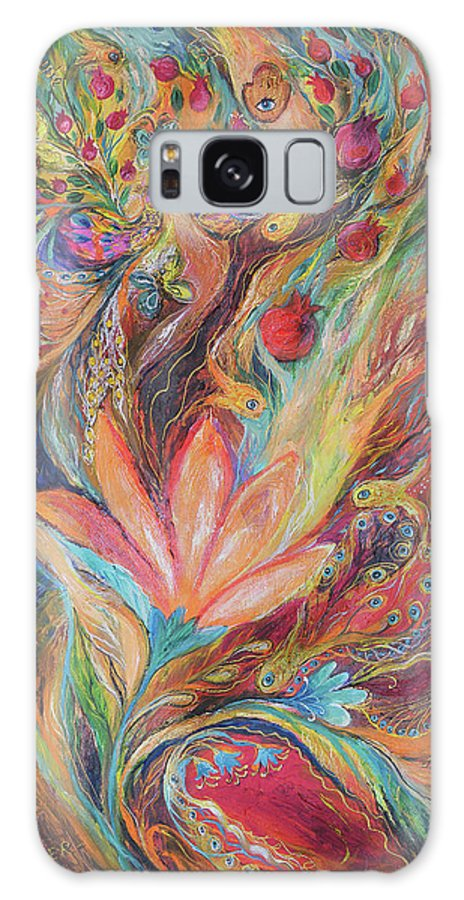 Original Galaxy S8 Case featuring the painting The Rainbow's Daughter by Elena Kotliarker