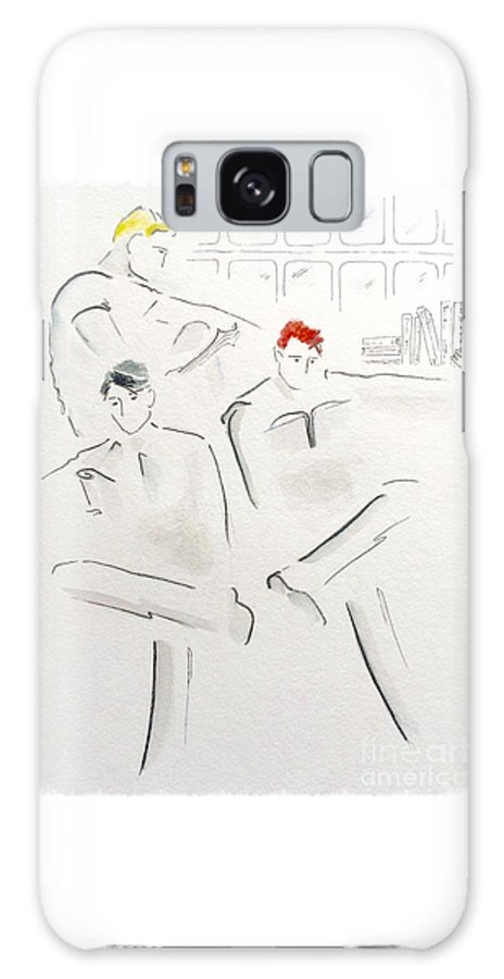 Reading Galaxy S8 Case featuring the drawing The Reading Room by Barbara Chase