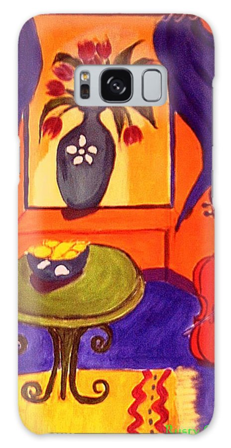 Cello Galaxy S8 Case featuring the painting The Red Cello by Rusty Gladdish