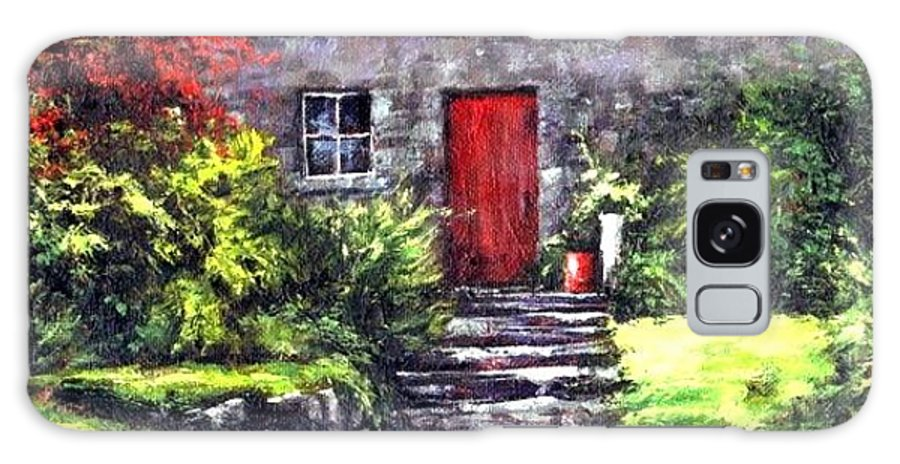Ireland Galaxy S8 Case featuring the painting The Red Door by Jim Gola