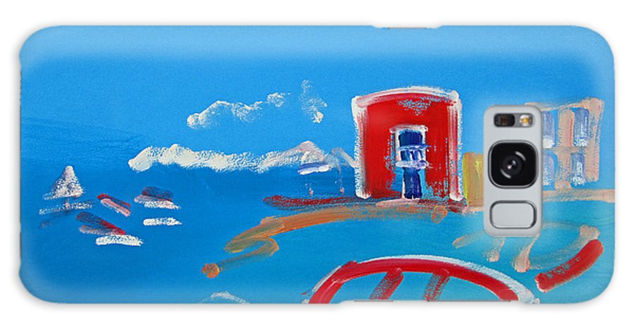 Puerto Galaxy S8 Case featuring the painting The Red House La Casa Roja by Charles Stuart