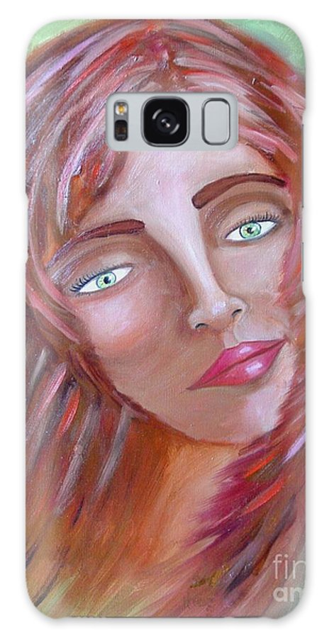 Redheads Galaxy Case featuring the painting The Redhead by Laurie Morgan
