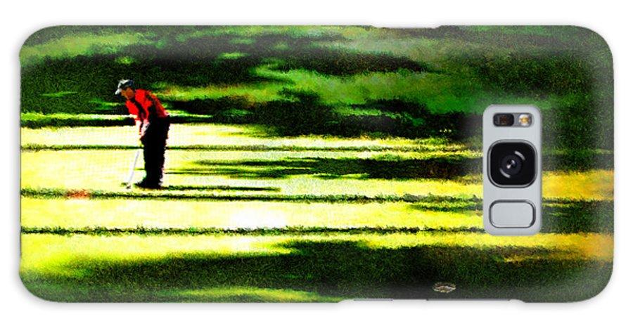 Golf Art Galaxy S8 Case featuring the digital art The Return Of The Tiger 05 by Miki De Goodaboom
