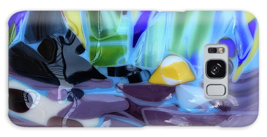 Glass Galaxy Case featuring the glass art The River by Suzanne Udell Levinger