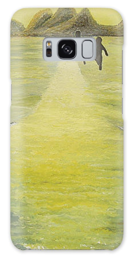 Soul Galaxy S8 Case featuring the painting The Road In The Ocean Of Light by Karina Ishkhanova