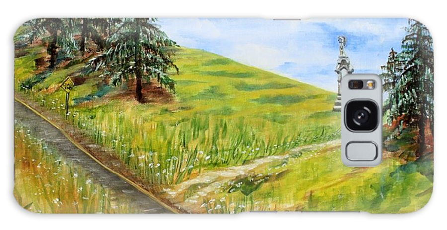 Landscape Galaxy S8 Case featuring the painting The Road Less Traveled by Thomas J Nixon